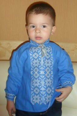Embroidered shirt for boy, vyshyvanka baby, ethno style, Bohemian