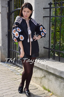 Vyshyvanka Ukrainian Embroidery Blouse Boho, ethno, style boho chic, Multi Color Embroidery Linen