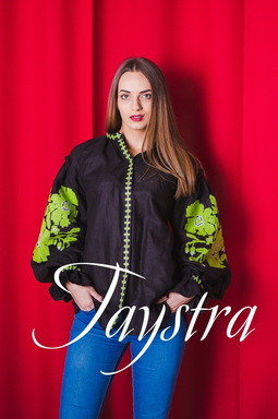 Vyshyvanka Multi Color Embroidery Linen Blouse Embroidered Boho, ethno, style boho chic, Bohemian, Ukrainian embroidery Black Blouse