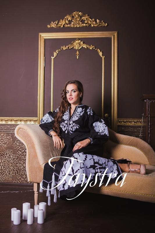 Black Evening Dress fashionable stylish boho embroidered linen, ethno, style boho chic, Maxi Dress, Embroidered dress, Multi Color Embroidery Linen