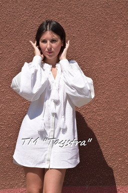 Embroidered Short dress tunic  linen, vyshyvanka, Ukrainian embroidered, Boho style, Bohemian, ethno