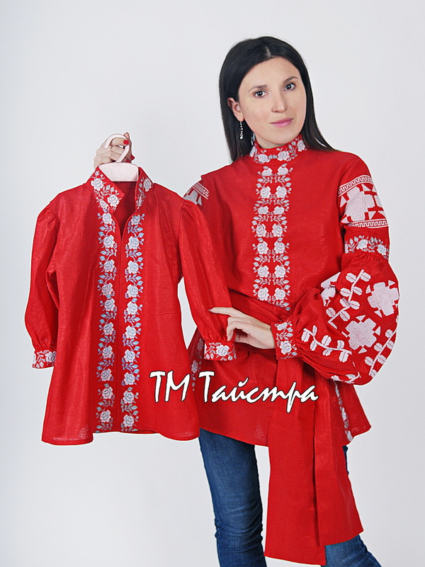 Embroidered Blouse Boho Embroidered Linen, ethno, style boho chic, Embroidered clothes Bohemian, Vyshyvanka Multi Color Embroidery Linen, Ukrainian embroidery, Red Blouse