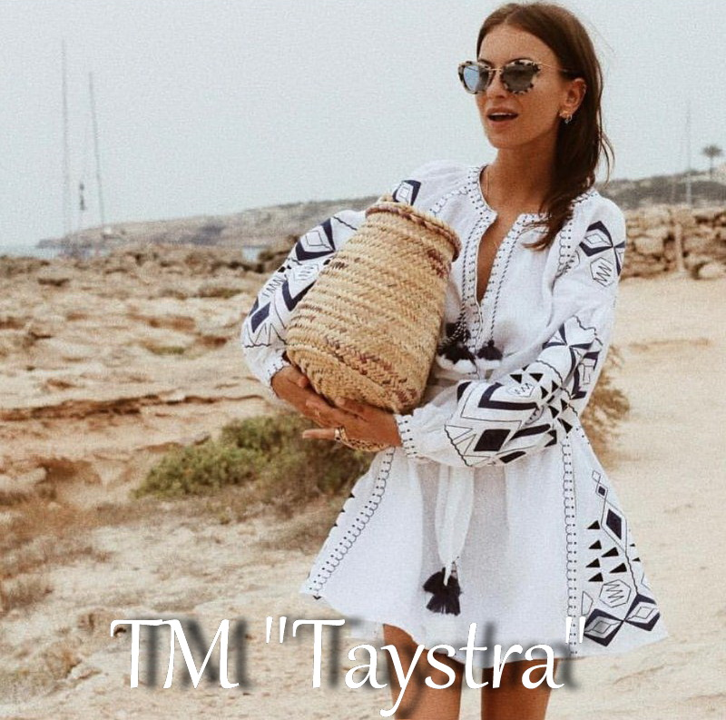 Short Dress White Linen Mini Dress Vyshyvanka Ukrainian Linen Embroidered