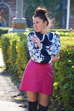 Blouse Embroidered Boho Ukrainian Embroidered clothes, turn-down collar  Vyshyvanka,
