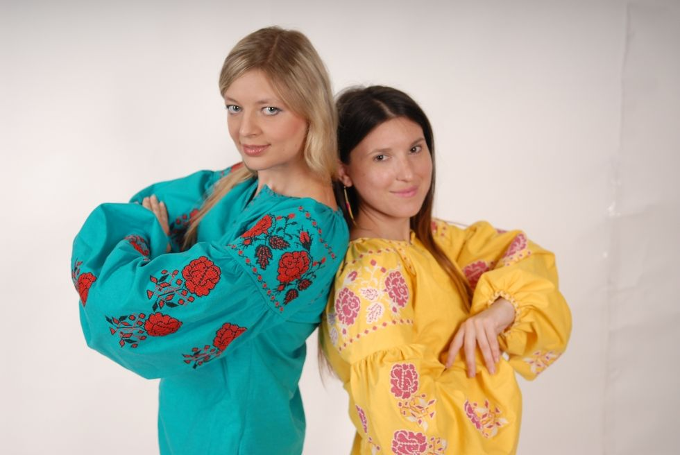 Embroidered tunic Short dress linen, vyshyvanka, Ukrainian embroidered, Boho style, Bohemian, ethno