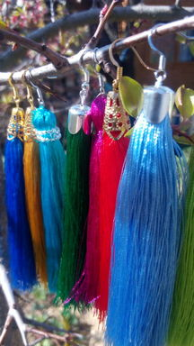 Exclusive earrings made for the color of embroidery or fabric of your order