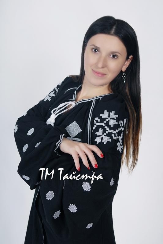 Vyshyvanka Black Maxi Dress Ukrainian embroidery, Boho, ethno, style boho chic, Embroidered Dress, Multi Color Embroidery Linen