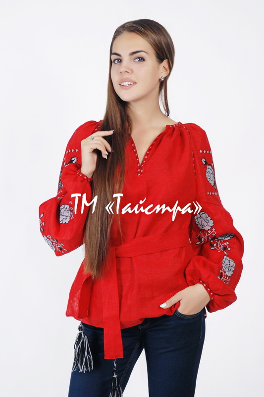 Vyshyvanka Blouse Embroidered ethno, Blouse Red Linen, style boho chic, Embroidered clothes Bohemian, ethno , Vyshyvanka  Multi Color Embroidery Linen, Ukrainian embroidery