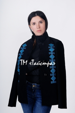 Embroidered coat  with embroidery, ethnostyle