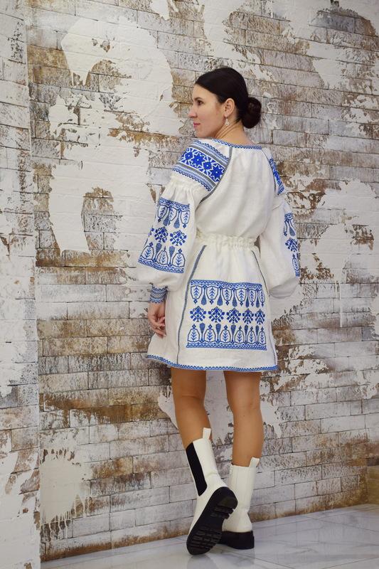 White Skirt Embroidered Vyshyvanka Ukrainian embroidery