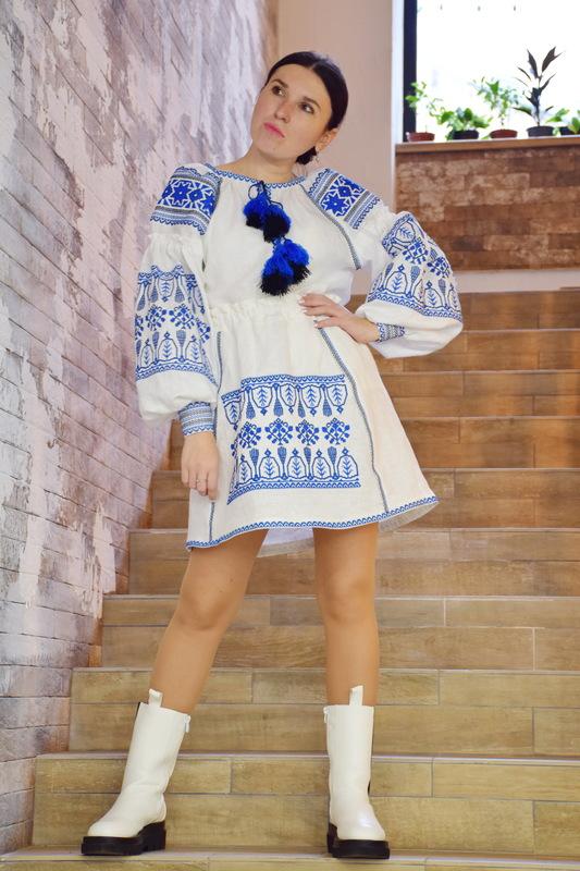 Vyshyvanka Embroidered White Blouse Boho Ukrainian embroidery, Embroidered clothes
