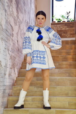 White Skirt Embroidered Vyshyvanka Ukrainian embroidery