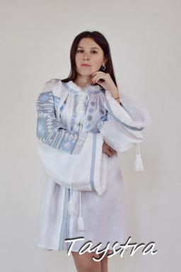 Vyshyvanka Blouse Tunic Embroidered Multi Color Embroidery Linen Ukrainian Embroidered Blouse