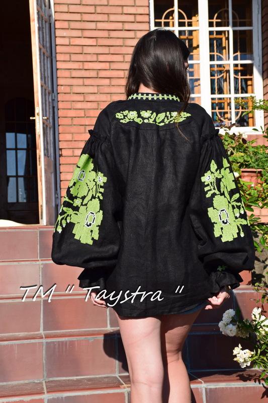 Vyshyvanka Ukrainian embroidery Black Blouse Multi Color Embroidery Linen Blouse Embroidered Boho, ethno, style boho chic, Bohemian