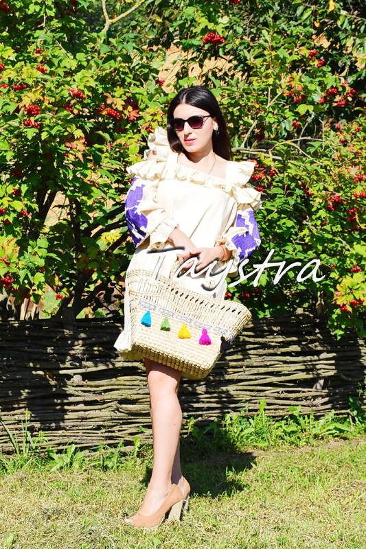 Bag decorated in ethnic style, Handmade