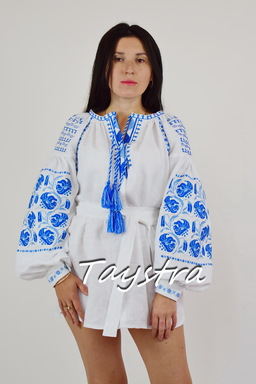 Vyshyvanka Embroidered short dress vyshyvanka Ukrainian embroidered Tunic Boho style