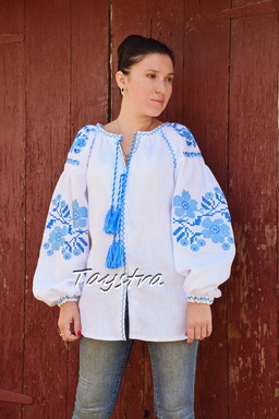 Blouse Vyshyvanka Embroidered Linen Ukrainian embroidery, Embroidered clothes Bohemian