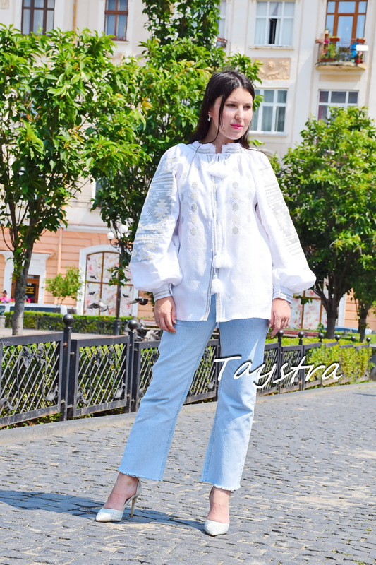 White Embroidered Blouse Vyshyvanka Embroidered clothes Vyshyvanka  Multi Color Embroidery Linen Ukrainian embroider Embroidered Blouse