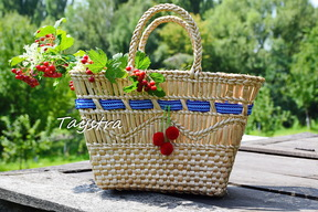 Нandmade bag decorated in ethnic style