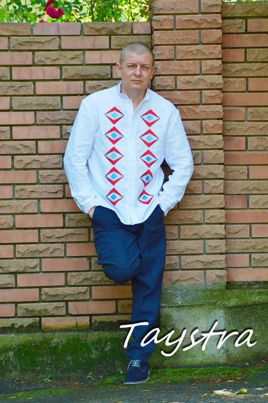 Vyshyvanka shirt with embroidery, ethno style, embroidered, Ukrainian embroidered