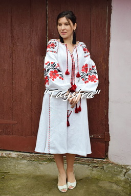 Vyshyvanka Ukrainian embroidery, Boho, ethno, style boho chic, Embroidered  dress, Multi Color Embroidery Linen