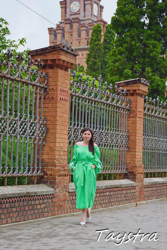 Tunic Dress Color Embroidery Linen Vyshyvanka Ukrainian embroidery