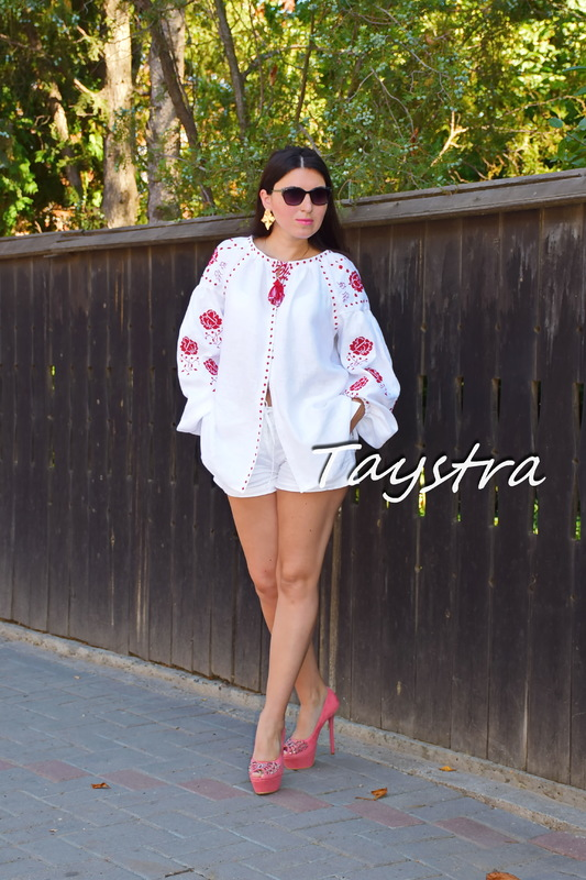 Blouse Vyshyvanka Embroidered clothes Vyshyvanka White Embroidered Linen Ukrainian embroider Embroidered Blouse
