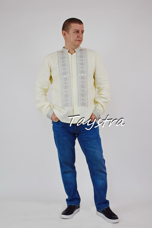 Embroidered shirt ethno style, embroidery