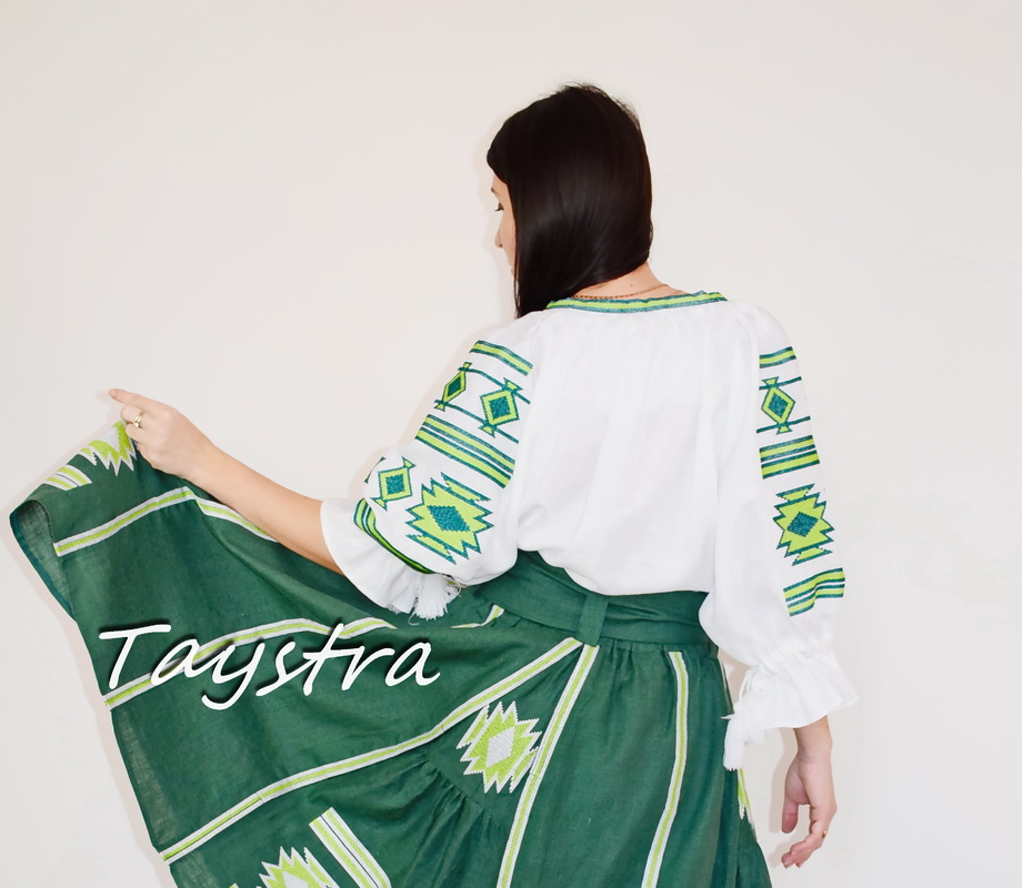 Blouse Embroidered Linen Ukrainian Vyshyvanka, Embroidered clothes