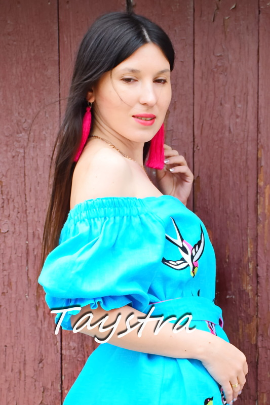 Ukrainian Dress Boho style boho chic Embroidered dress Multi Color Embroidery Linen