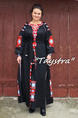Embroidered Boho Dress 4 wedges, ethno style boho chic, Bohemian, Vyshyvanka Dress Multi Color Embroidery Linen, Ukrainian embroidery