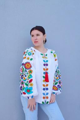 Vyshyvanka Embroidered clothes Vyshyvanka Ukrainian Linen Embroidered Blouse