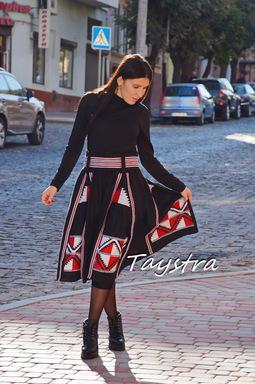 Women skirt Embroidered four wedges, skirt boho style, Bohemian