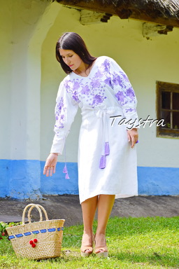 Dress Embroidered boho chic, Bohemian Vyshyvanka Dress Color Embroidery, Ukrainian embroidery