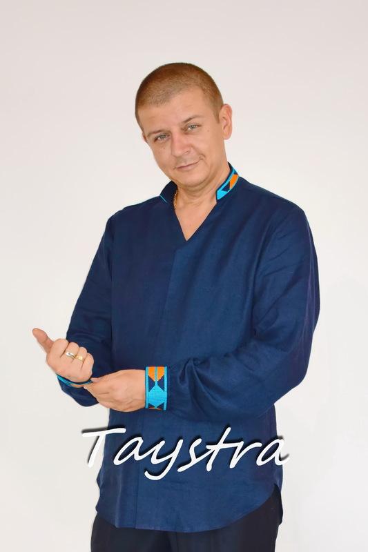 Men's embroidered vyshyvanka shirt linen Ukrainian embroidered