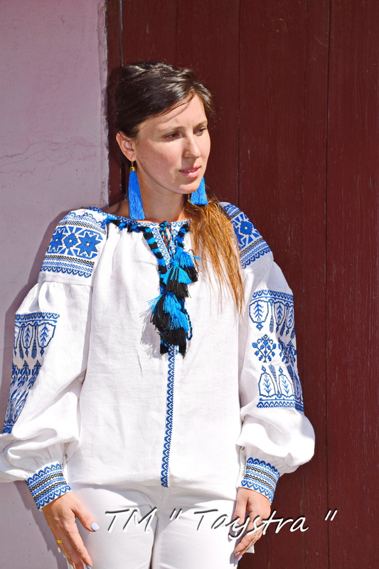 Vyshyvanka Embroidered White Blouse Linen Boho style, Bohemian, ethno,Ukrainian embroidery, Embroidered clothes