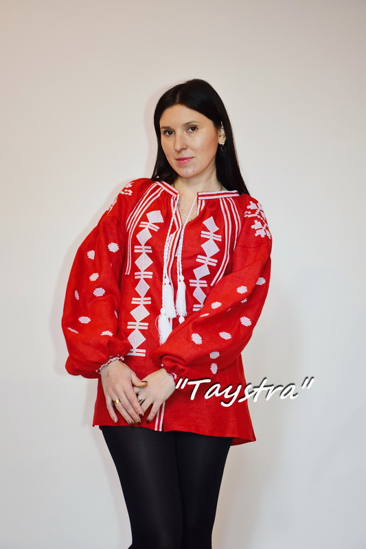 Embroidered Blouse Vyshyvanka  Linen, embroidered linen, ethno, style boho chic, Bohemian, Vyshyvanka  Multi Color Embroidery Linen, Ukrainian embroidery, Embroidered clothes Bohemian, Red Blouse