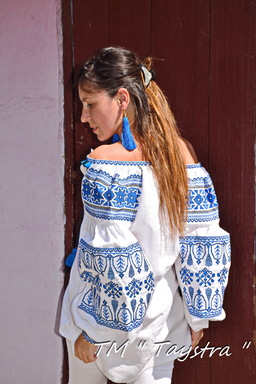 Vyshyvanka Embroidered White Blouse Linen Boho style, Bohemian, ethno,Ukrainian embroidery, Embroidered clothes