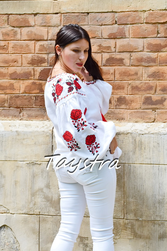 Vyshyvanka Embroidered Blouse Linen Ukrainian embroidery, Embroidered clothes Bohemian