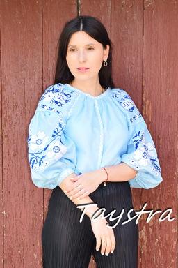 Vyshyvanka Embroidered Blouse ethnostyle boho chic, Bohemian Vyshyvanka  Multi Color Embroidery Linen, Ukrainian embroidery