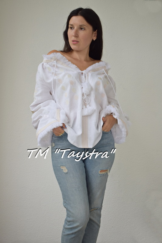 Vyshyvanka Blouse Embroidered, White linen, ethno, style boho chic, Embroidered clothes Bohemian, ethno , Vyshyvanka  Multi Color Embroidery Linen, Ukrainian embroidery