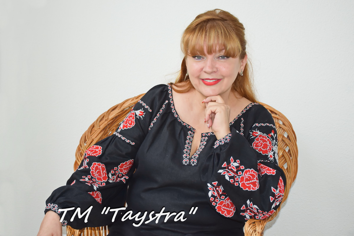 Black Blouse Embroidered Vyshyvanka  Linen Boho style Bohemian, ethno Ukrainian embroidery, Embroidered clothes