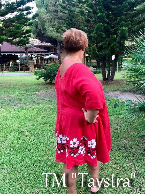 Arabic Dress Red Embroidered Dress Linen Dress Arabic Style Abaya
