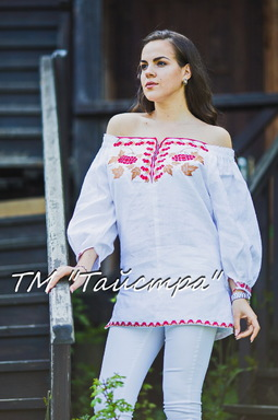 Vyshyvanka Embroidered Blouse open shoulders,Ukrainian Embroidery Blouse,White Blouse Linen Boho style, Embroidered clothes Bohemian, ethno