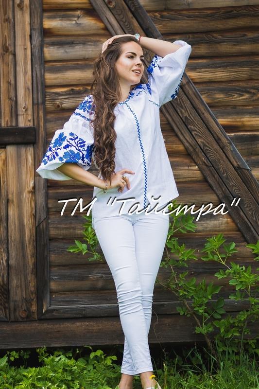 Vyshyvanka Embroidered Blouse, White linen, ethno, style boho chic, Bohemian, Vyshyvanka  Multi Color Embroidery Linen, Ukrainian embroidery