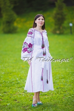 Vyshyvanka dress Ukrainian embroidery, Boho, ethno, style boho chic, Embroidered dress, Multi Color Embroidery Linen