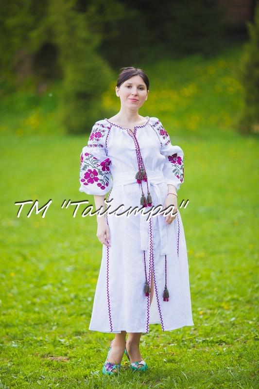 Vyshyvanka dress Ukrainian embroidery, Boho, ethno, style boho chic, Embroidered dress, Multi Color Embroidery Linen