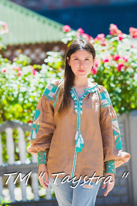 Boho Embroidered Blouse Vyshyvanka  Linen, embroidered linen, ethno, style boho chic, Bohemian, Vyshyvanka  Multi Color Embroidery Linen, Ukrainian embroidery,Embroidered clothes,Brown Blouse