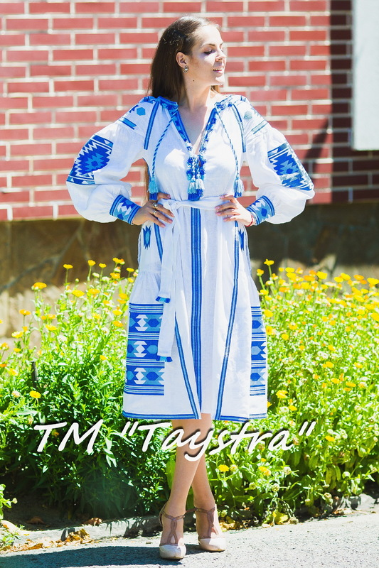 Vyshyvanka White Maxi Dress Ukrainian embroidery, Boho, ethno, style boho chic, Embroidered dress, Multi Color Embroidery Linen