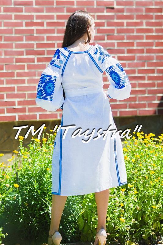 Vyshyvanka White Maxi Dress Ukrainian embroidery, Boho, ethno, style boho chic, Embroidered dress, Multi Color Embroidery Linen